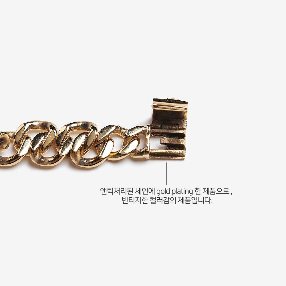 애끼(AEKKI) Gold 모스트 모던 7mm 체인팔찌